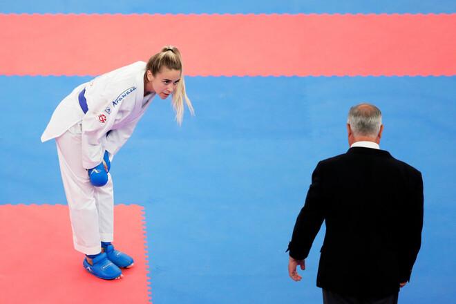 Карате. Анжеліка Терлюга поступилася в третьому раунді чемпіонату Європи