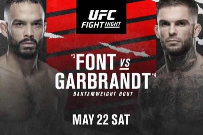 Где смотреть онлайн UFC: Роб Фонт – Коди Гарбрандт