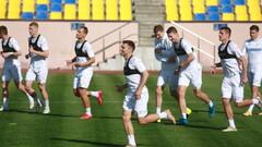 ФОТО. Как сборная Украины перед Бахрейном тренировалась