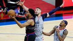 НБА. Лэнь набрал 6+5 во второй игре плей-офф, Вашингтон уступил Филадельфии