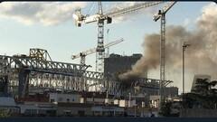 ВИДЕО. На реконструируемом Сантьяго Бернабеу вспыхнул пожар