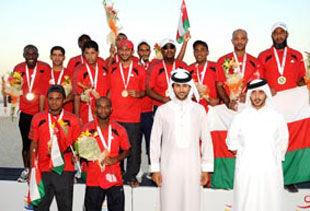 Оман выигрывает «золото» по пляжному футболу