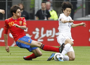 Испания корея футбол видео