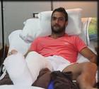 Аргентинскому футболисту сломали ногу во время матча + ВИДЕО