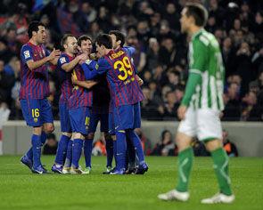 Барселона 4 2 бетис матч