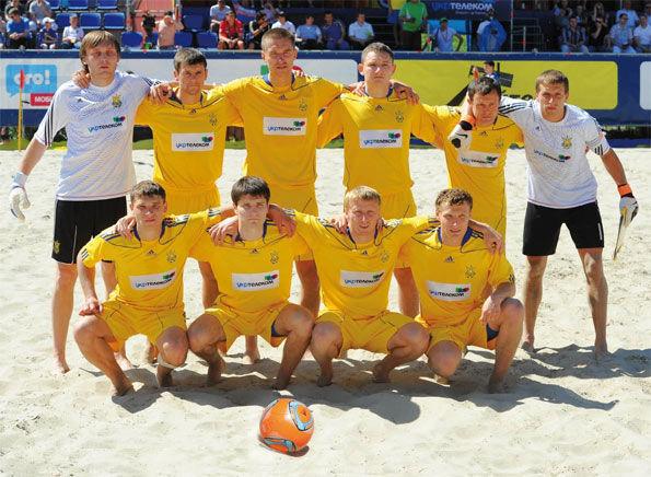 Сборная Украины по пляжному футболу вернулась из Белоруссии