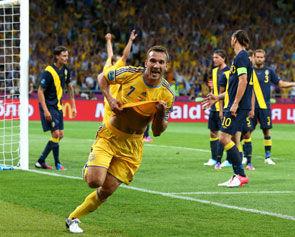Украина - Швеция - 2:1