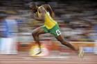 Тэгу. Усэйн Болт выигрывает 200-метровку