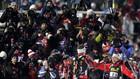 Норвегия уверенно выигрывает стартовую гонку чемпионата мира