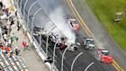 Жуткое столкновение в автогонках NASCAR + ВИДЕО