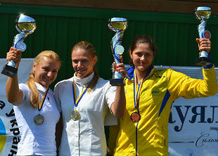 Команды Донецка выиграли чемпионат Украины по пятиборью