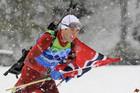 Сборная Норвегии уверенно выигрывает эстафетную гонку