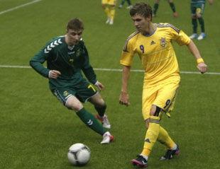Молодежная сборная Украины громит Литву