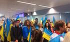 Украинских баскетболистов встретили в аэропорту + ФОТО