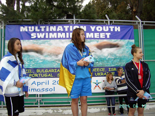 Украинские пловцы установили три рекорда на Кипре