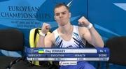 Олег Верняев – чемпион Европы в упражнениях на брусьях