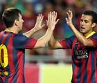 Барселона без проблем побеждает в Альмерии, но теряет Месси
