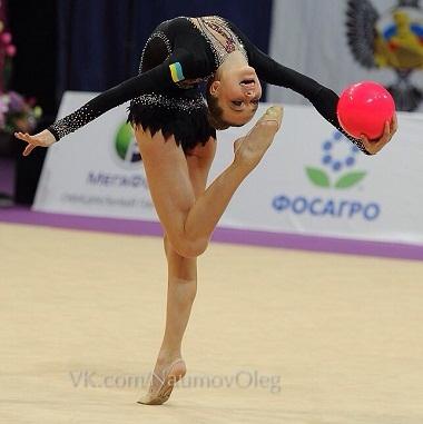 Валерия Ханина - серебряный призер ЧЕ - 2014 с лентой
