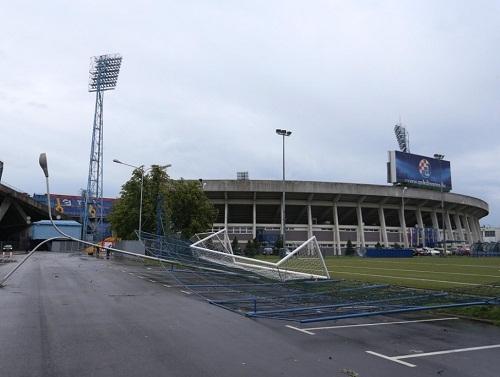 Стадион загребского Динамо стал жертвой урагана