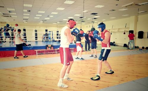 Открытая тренировка олимпийской сборной по боксу