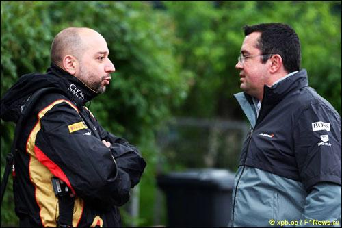 Эрик Булье сравнил Lotus F1 и McLaren
