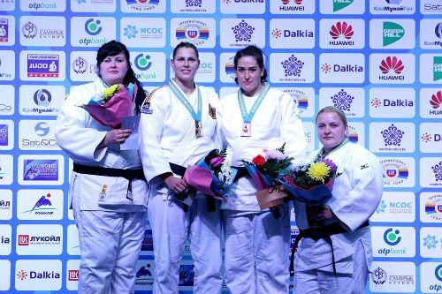 Украинские дзюдоисты добывают три медали на турнире в Астане
