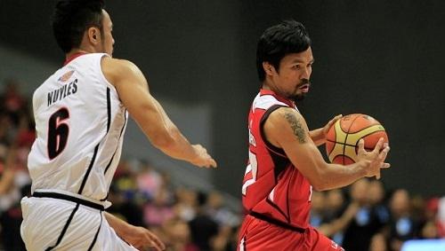 Мэнни Пакьяо дебютировал в роли баскетболиста