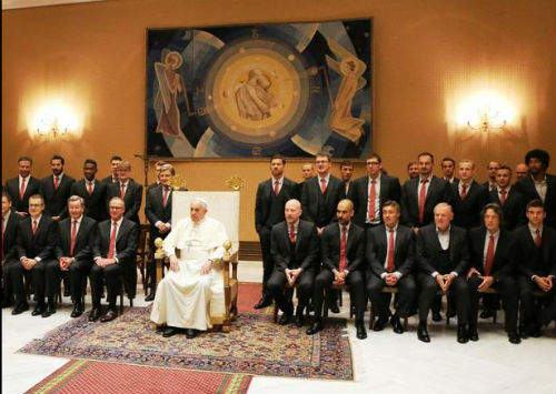 Игроки Баварии встретились с Папой римским