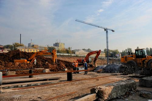 Строительство Кальмиус Арены идет полным ходом + ФОТО
