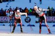 Австрия выигрывает у Германии мужскую эстафету