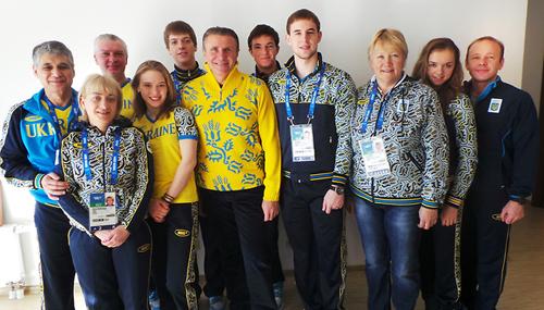 Бубка посетил расположение украинских олимпийцев в Сочи