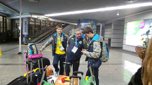 Украинские фигуристы, саночники и шорт-трековцы уже в Сочи