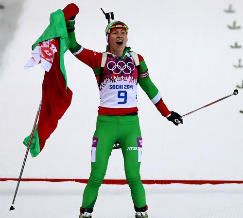 Дарья Домрачева становится олимпийской чемпионкой