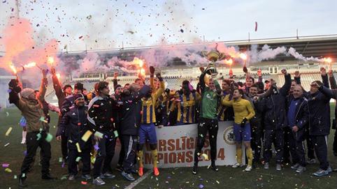 Желто-синие – шестикратные чемпионы Латвии