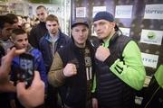 Усик и Князев провели в Киеве открытую тренировку