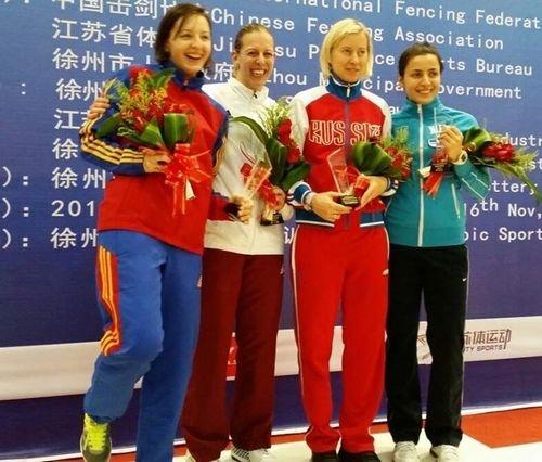 Яна Шемякина завоевала бронзу на этапе кубка мира в Хучжоу