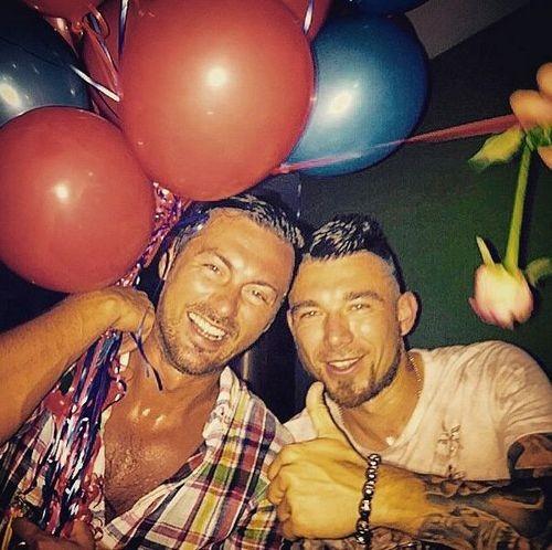 Милевский погулял со звездами хорватского футбола