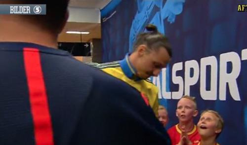 Ибрагимович шокировал детей перед матчем с Черногорией