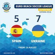Пляжный футбол: Украина обыграла Испанию и выходит в чемпионский матч!