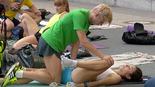 Эротичная разминка украинской легкоатлетки