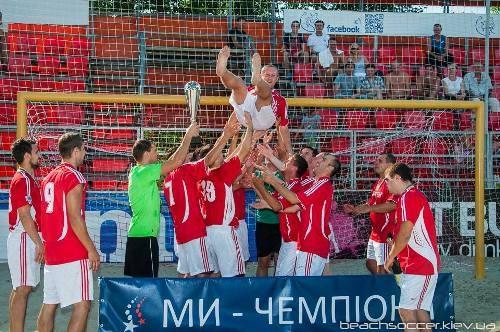 Пляжный футбол Киева: у «Апогея» золото Первого дивизиона!