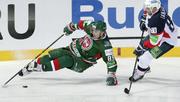 Неожиданный пас шведского хоккеиста