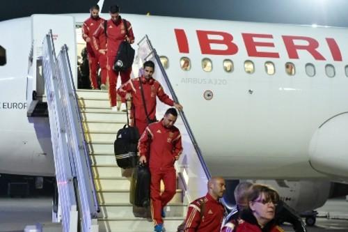 Сборная Испании прибыла в Киев