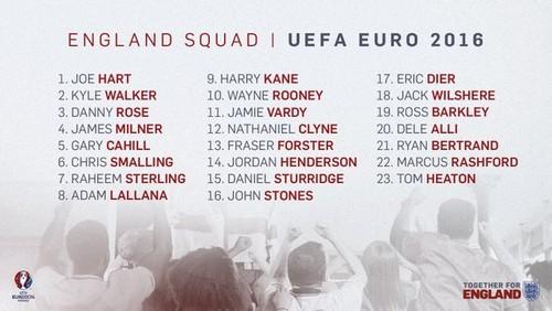 Ходжсон назвал окончательную заявку Англии на Евро-2016