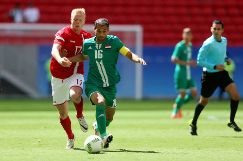 Ирак и Дания открыли мужской футбольный турнир