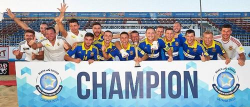 Сборная Украины - чемпионы Европы по пляжному футболу!!!