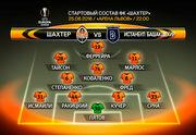 Шахтер - Истанбул: стартовые составы команд