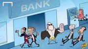 Карикатурист высмеял запрет на трансферы для Атлетико и Реала