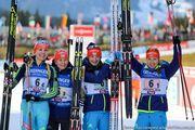 Хохфильцен. Женская сборная Украины - третья в эстафете!