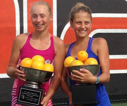 Лопатецкая и Костюк — победительницы Junior Orange Bowl